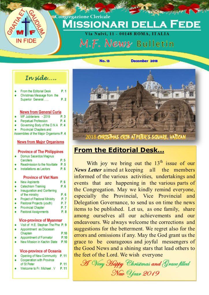 MF NEWS Bulletin No. 13